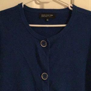 Ladies dark blue Jones New York cardigan